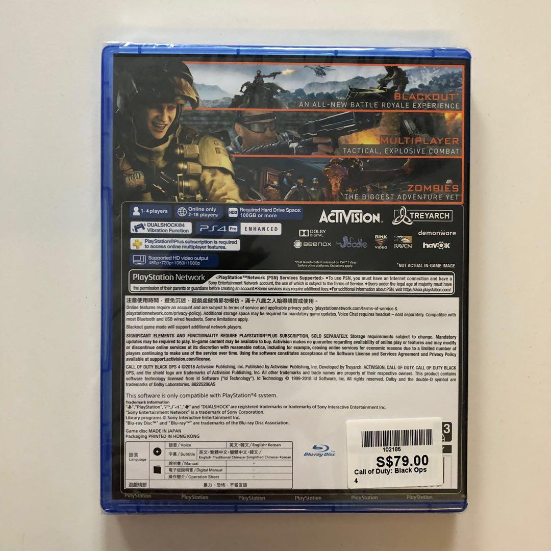 Pre CNY Sales! Call Of Duty- Black Ops 4 for PS4 R3