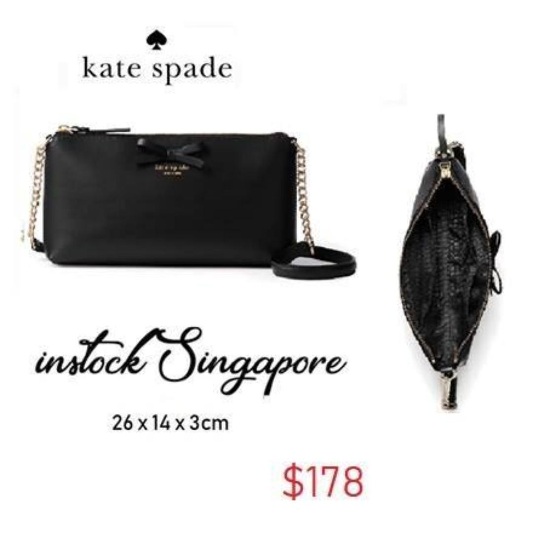 READY STOCK- AUTHENTIC-NEW  Kate Spade Sawyer Street Declan Classic Leather Crossbody Bag Purse Handbag