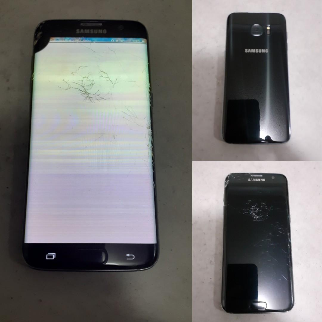 Samsung Galaxy s7 Edge 32gb Smashed Screen & Lcd Damaged Cracked