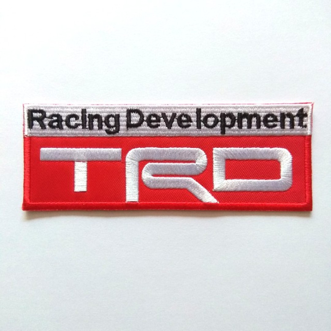 Trd Racing Development Toyota Car Logo Iron On Patch Everything Else On Carousell