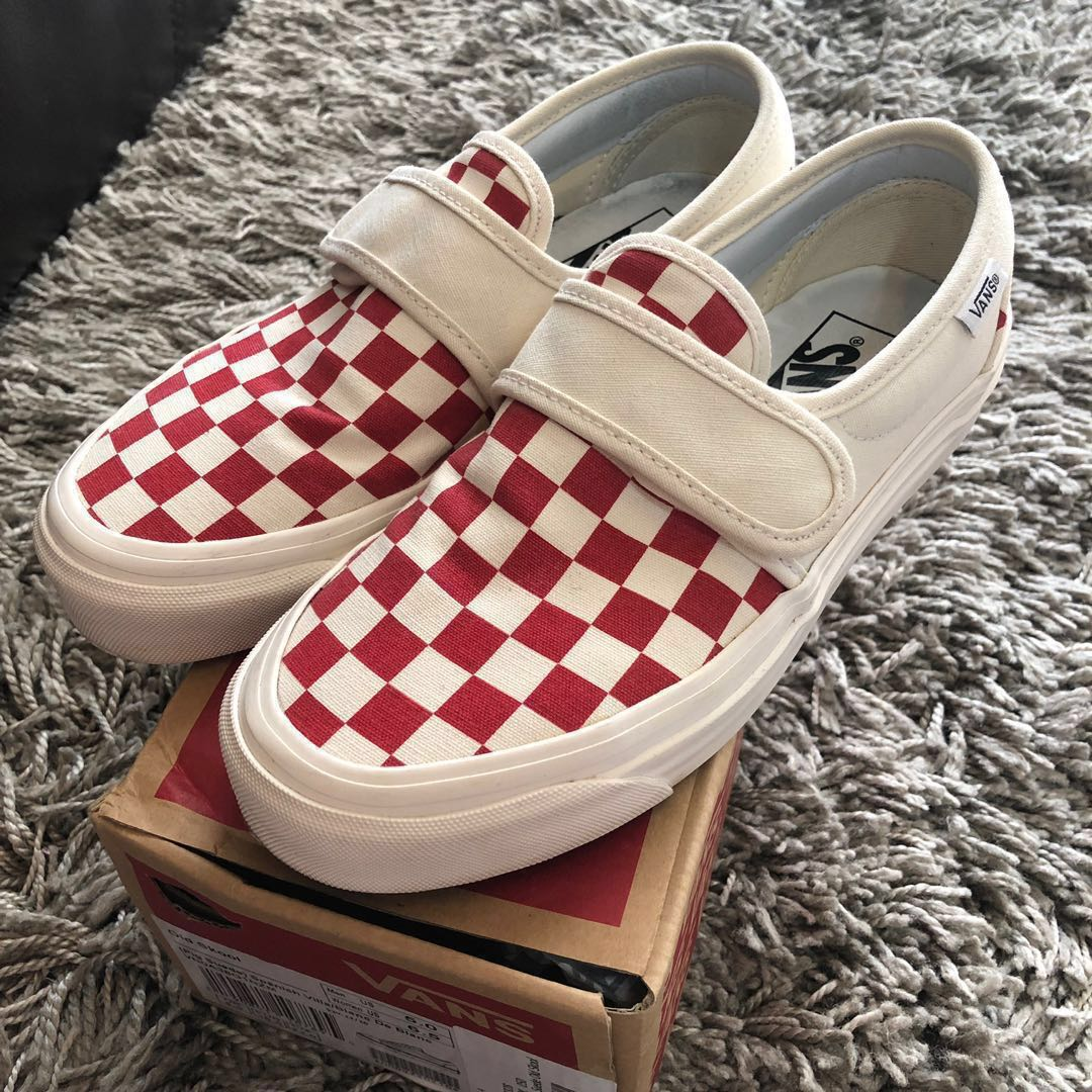 Vans Style 47 checkerboard/racing red