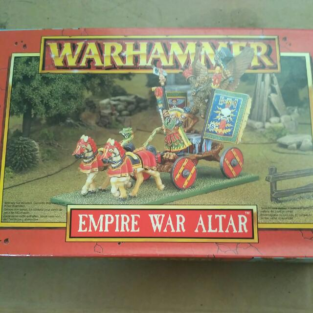 Warhammer Fantasy Empire War Altar Metal Mini Set By Games