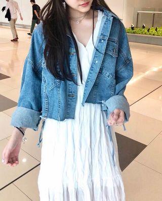 韓國短款牛仔外套