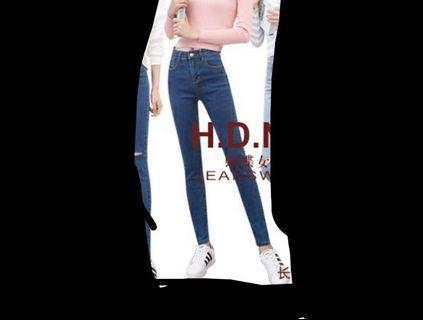 Plus size Blue Skinny Jeans