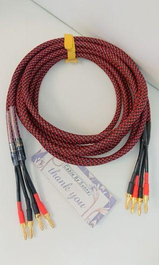 Straight Wire speaker cable 3m pair.