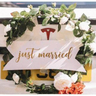 [Rental] Just Married Signage
