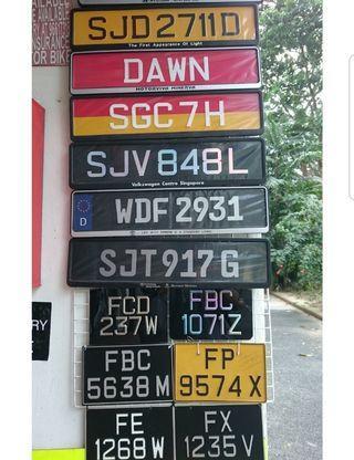 Auspicious car plate for sale!