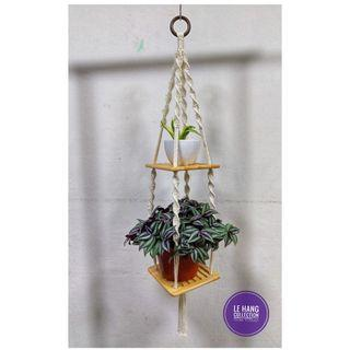 😎Lovely Macrame Hanging Wooden Shelves😎