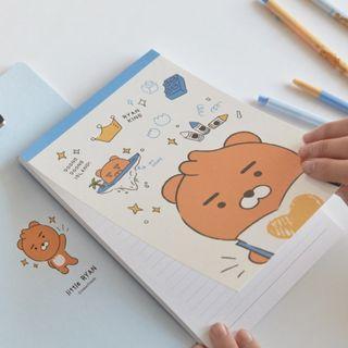 (韓國代購 9/5截單;16/5後交收) 韓國Kakao Friends Ryan Little Sketchbook Clipboard