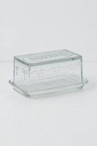French Glass Beurre Butter Dish