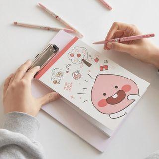 (韓國代購:9/5截單;16/5後交收) 韓國Kakao Friends Apeach Little Sketchbook Clipboard