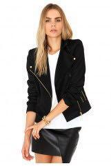 Cara Delevigne Missguided Stephanie Multi Zip Scuba Biker Jacket In Black