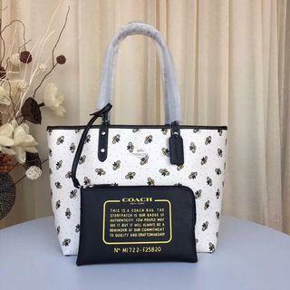Coach Reversible City Tote With Bee Print Preorder