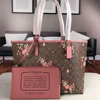Coach Reversible City Tote With Floral Preorder