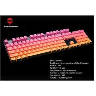 Tai Hao PBT Doubleshot Gaming Keycaps - Rainbow(104 / 87 / 61 keys)
