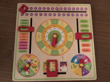 益智玩具 曰曆🔸天氣🔸四季🔸時間🔸