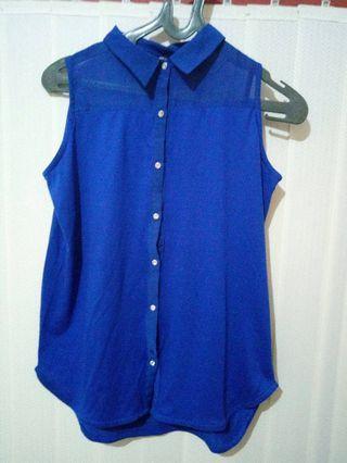 BLUE BLOUSE 35 RIBU NEGO