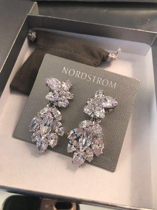 Nordstrom Swarovski crystal earrings