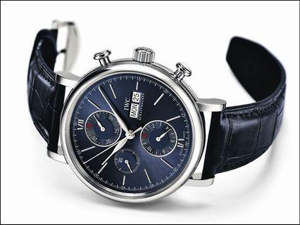 原裝IWC柏濤菲諾系列計時碼錶「勞倫斯體育公益基金會版」由精鋼打造,42mm的錶殼中,搭載79320自動上鍊計時機芯,俱備Pellaton自動上鍊裝置