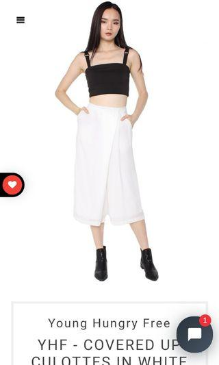 YHF Covered Up Culottes (White)