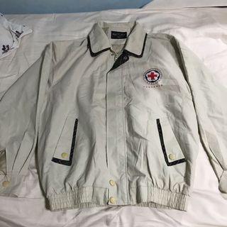🚚 Vintage Red Cross windbreaker