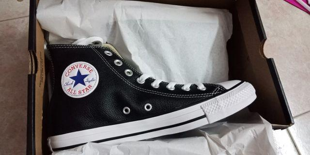 New Authentic Converse Leather Hi Top