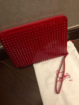 99%new Red Christian Louboutin clutch