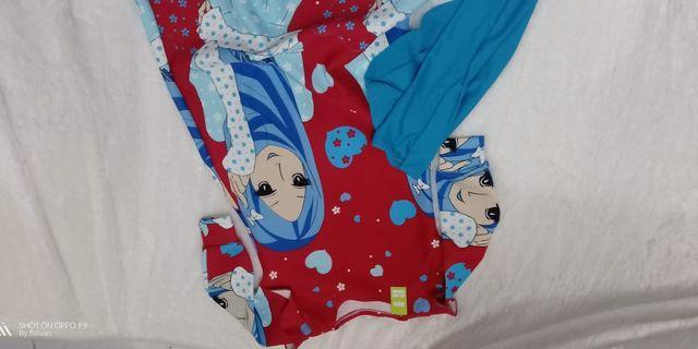 Gamis scuba motif cewek hijab