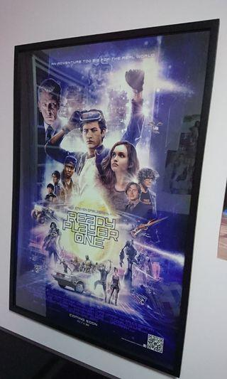 Ready Player One Official Movie Poster with frame