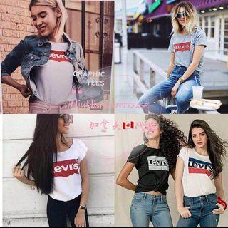 💗《預》⭐️2019年春夏新款⭐️ Levi's 經典款 女款 全棉LOGO短袖T恤 多款可選