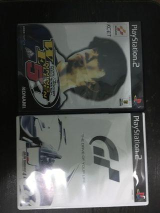 ps 2 playstation winning eleven 5 + gran turismo GT4 賽車