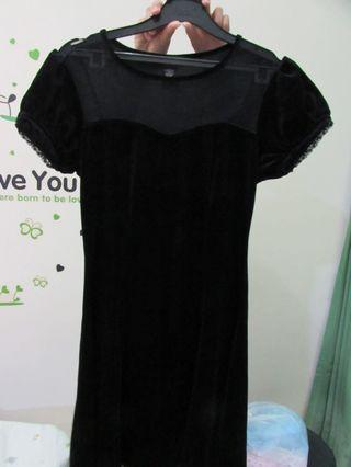 Dress Hitam/Black dress/dress wanita/dress