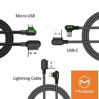 Mcdodo Micro USB Lightning Type C Fast Charging Cable Gaming