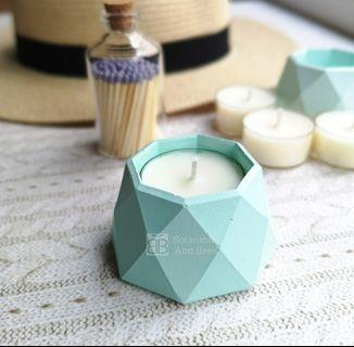 Pastel Series by Botanicals And Bees Hexagon Concrete Tealight Holder