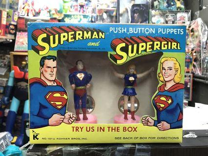 Superman push puppet mint in box (60s)