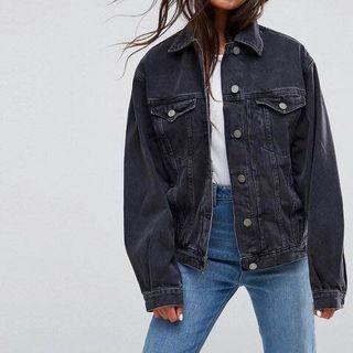 ASOS Dark Grey Denim Jacket