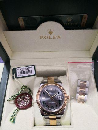 🚚 Preloved Rolex Datejust half gold 116333