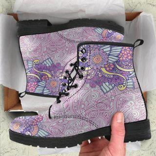Purple Henna Boot