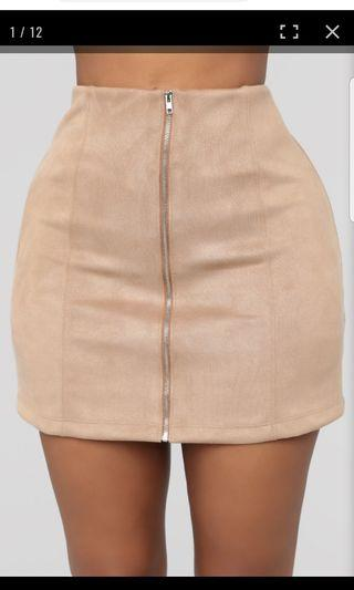 Fashion Nova Farrah suede skirt Small