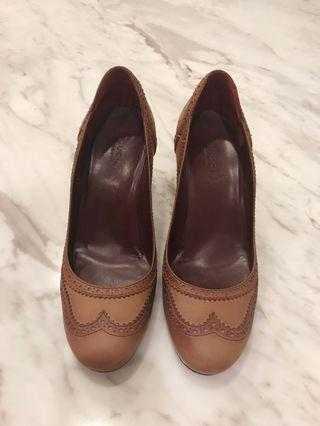 Gucci Women's Brown Leather Pumps