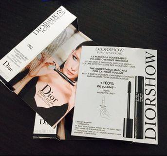 Diorshow Pump 'N' Volume mascara BNIB ( Newest release squeezable pump version)
