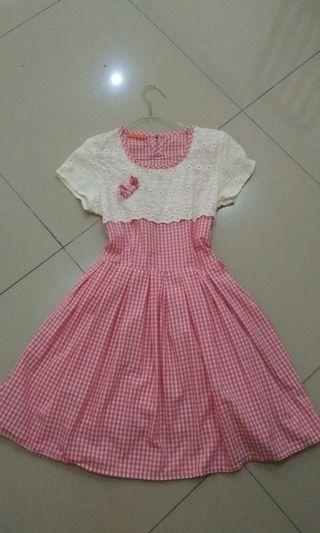 Kawaii Dress, Mididress Murah Preloved