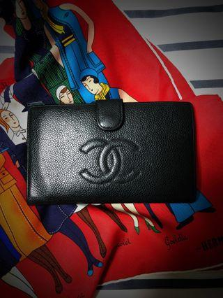 Authentic Chanel Caviar Wallet