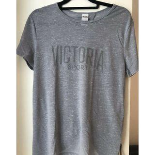 Victoria's Secret Sport Grey Tshirt with Open Back size M