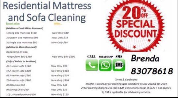 Mattress/Carpet/Sofa cleaning & Stain removing