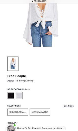 Free people tie shirt
