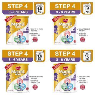 🚚 4 Tins (Set) Dumex Mamil Gold Stage Step 4 Formula Milk Powder DHA Omega