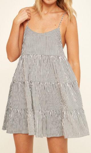 Black stripe swing dress