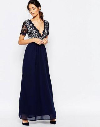 BNWT ASOS Club L Lace Scallop Occasion Maxi Dress