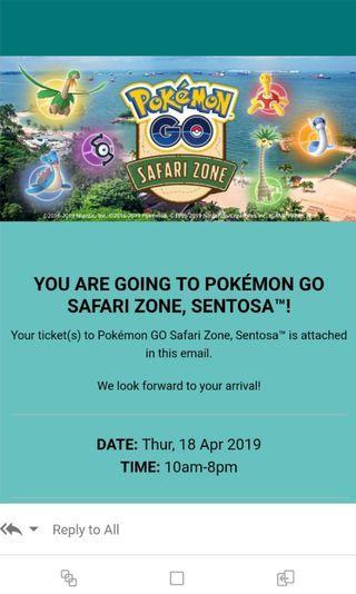 🚚 Safari Zone ticket at Sentosa Singapore